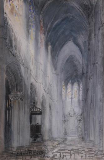 Vue intérieure de la cathédrale d'Evreux_0