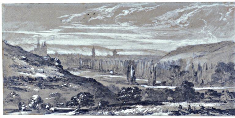 Vue d'Evreux en 1845_0
