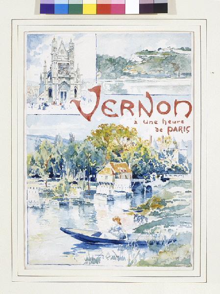 Vernon à une heure de Paris (Projet d'affiche)_0