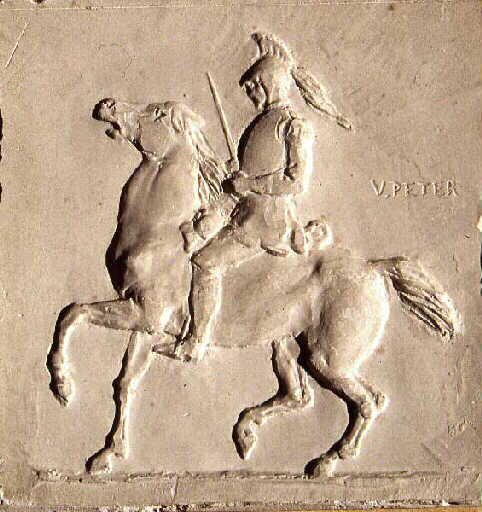 PETER Victor : Cuirassier à cheval