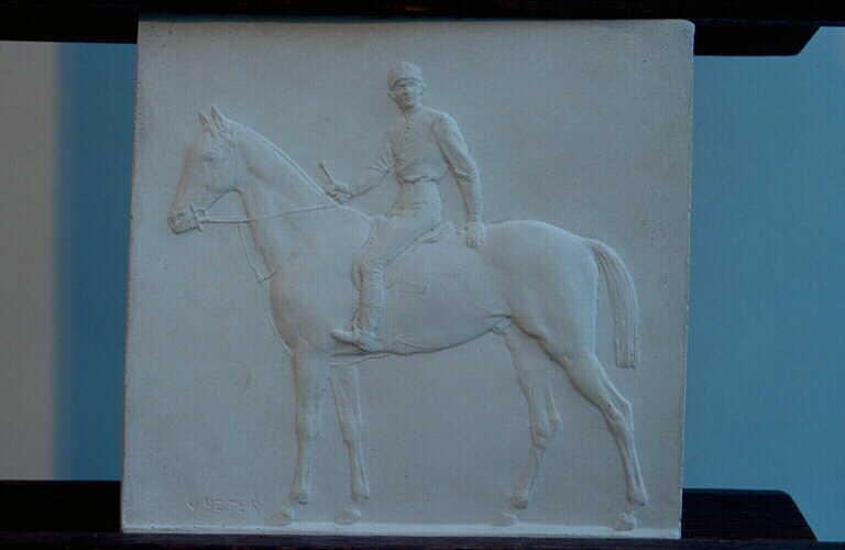 PETER Victor : Jockey à cheval