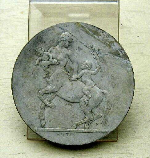 PETER Victor : Centauresse et deux petits satyres