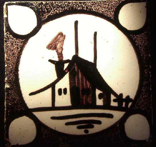 fabrique de Ponchon (attribué, fabrique) : carreau de pavement