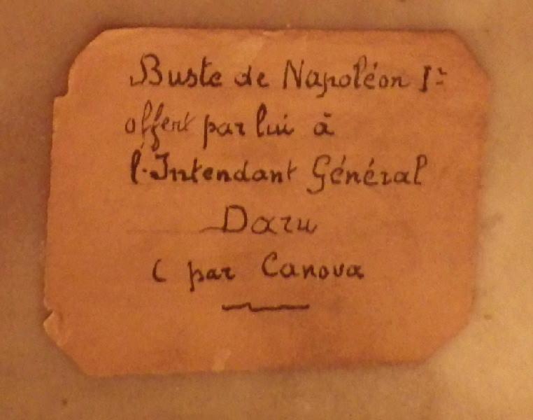 CANOVA Antonio : Napoléon Ier (Buste en hermès, tête nue, à l'antique)