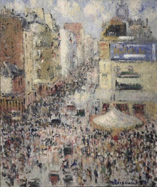 Rue Clignancourt à Paris, le 14 juillet 1926_0