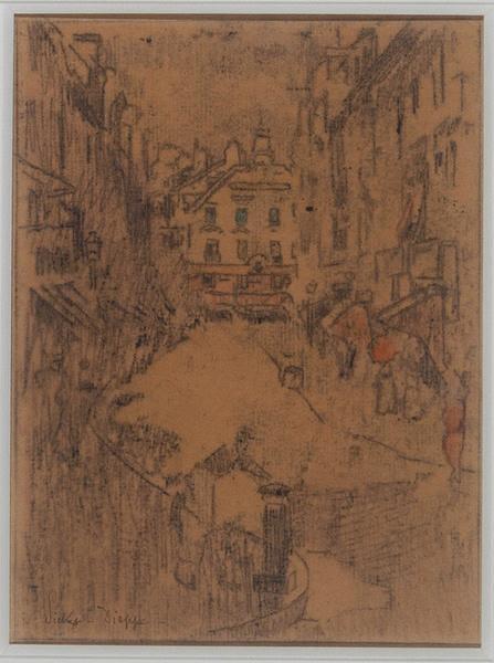 La rue de la Barre et le Puits Salé ; Grande rue (Titre donné par erreur dans l'inventaire des dépôts.)_0