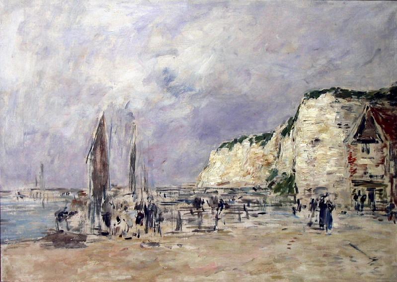 Les falaises du Pollet à Dieppe (Titre porté au dos de l'oeuvre) ; Port de Dieppe (Titre inscrit à l'inventaire)_0