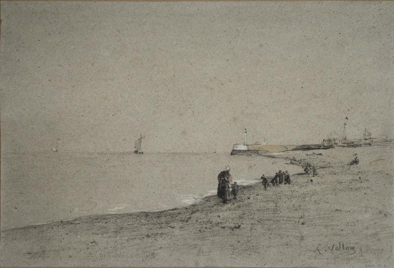 La plage de Dieppe (vers 1880)_0