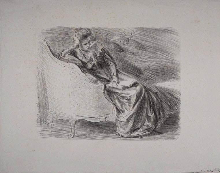 Femme assise sur une méridienne ; Lucie_0