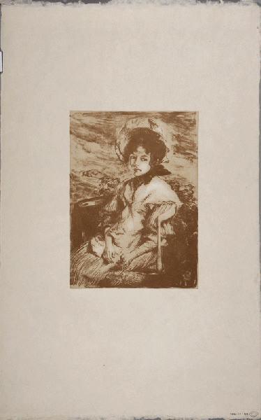 Pouponne (Nom du modèle) ; Jeune fille assise_0