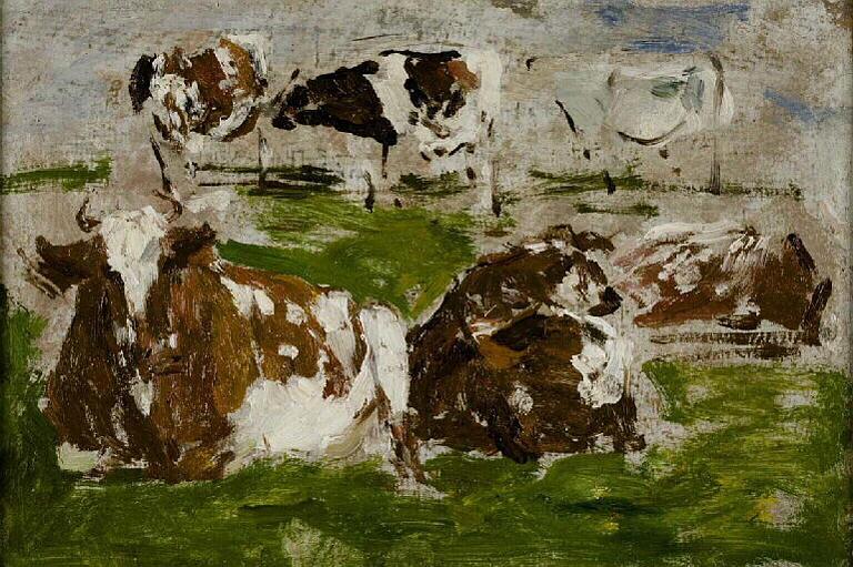 Etude de vaches ; Etude de vaches 2 couchées au premier plan (ancien titre)_0