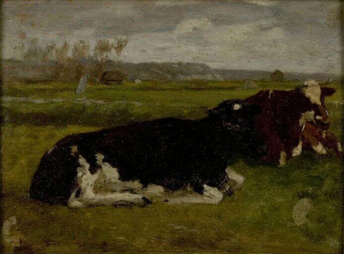 Paysage. Vaches noires ; Etude. Paysage. Vaches noires (ancien titre)_0