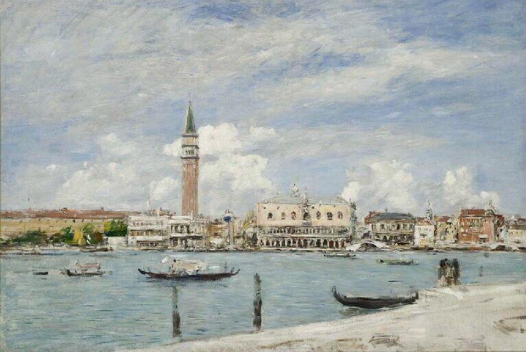 Venise, la Piazetta vue du Grand Canal_0