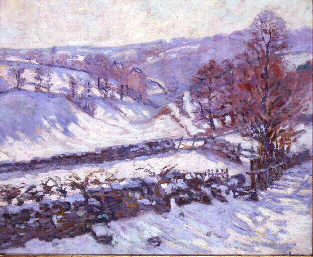 Paysage de neige à Crozant_0