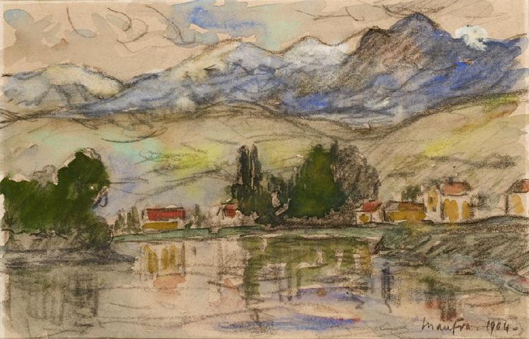 Paysage de montagnes - La Rivière_0