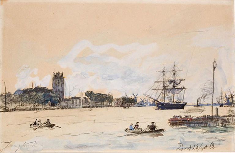 Le Port de Dordrecht (Titre donné par M. de Gorter, conseiller culturel à l'ambassade des Pays-Bas à Paris, à l'occasion d'une demande de prêt de ce tableau dans le cadre de l'organisation d'une exposition en 1963.) ; Marine (Ancien titre)_0