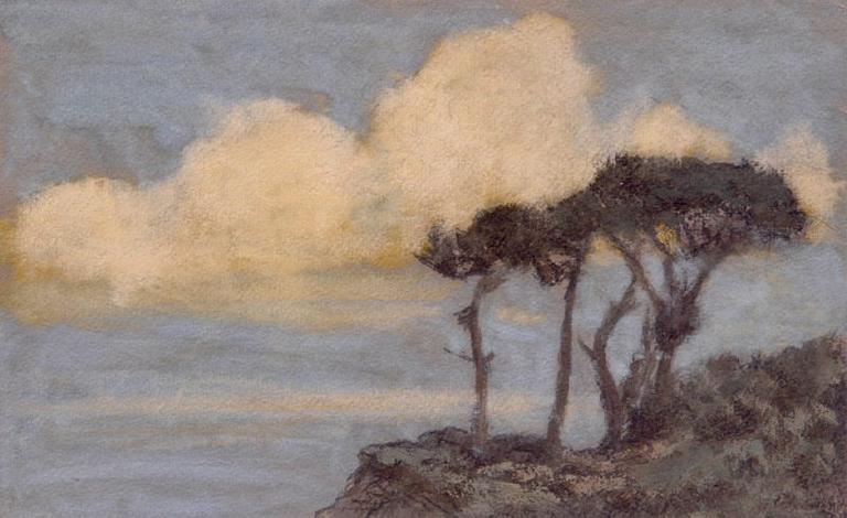 Varengeville. Gros effet de nuages, bord de mer_0