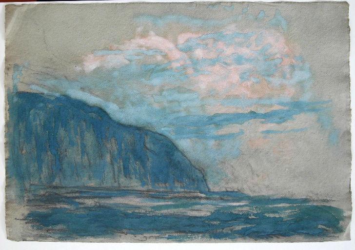 Falaise de Varengeville, nuage rose_0