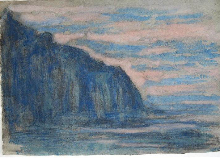 Mer et falaise à Varengeville_0