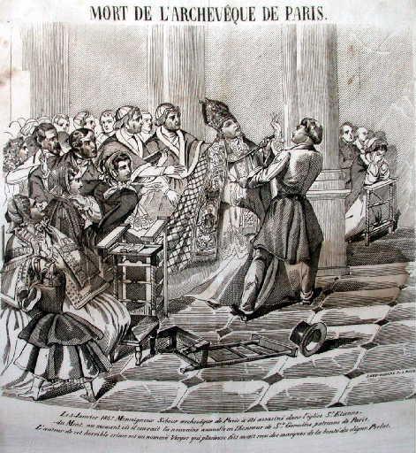 Mort de l'Archevêque de Paris, Mgr Sibour