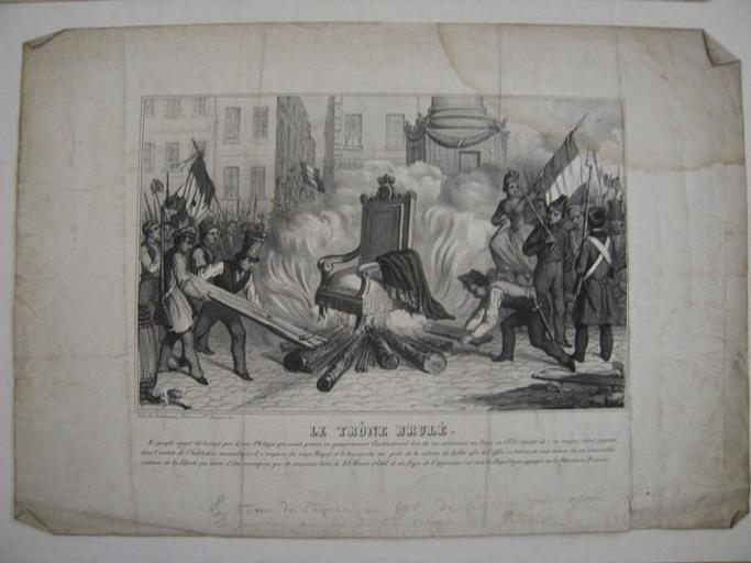 Le peuple parisien brûlant le trône de Louis-Philippe_0