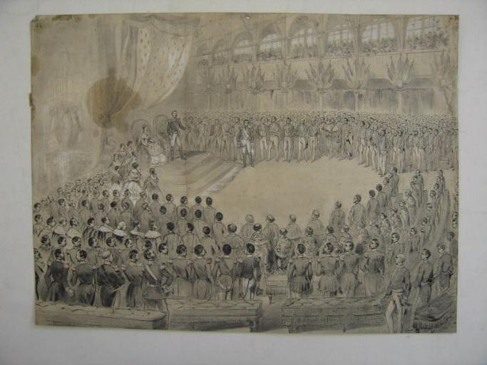 Ouverture de l'exposition Universelle de 1855 par Napoléon III_0