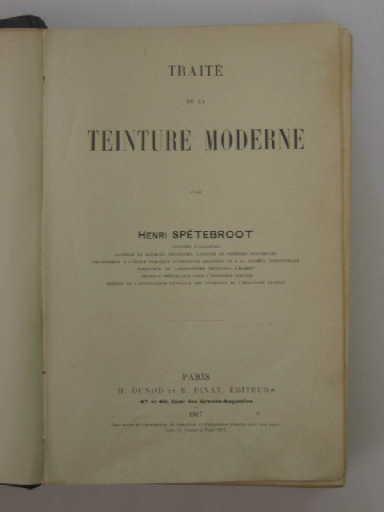 Traité de la teinture moderne