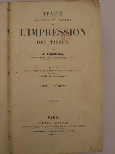 Traité théorique et pratique de l'impression des tissus_0