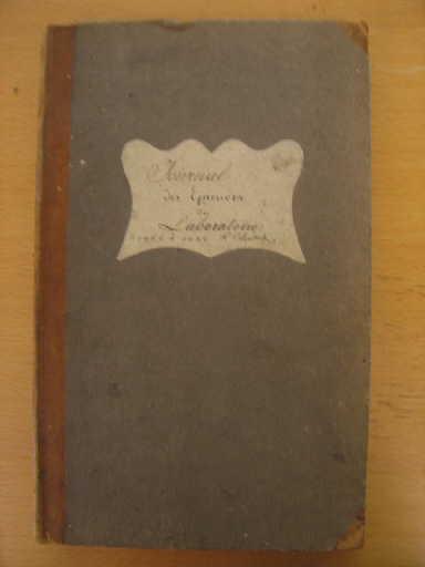 Journal des épreuves du laboratoire 1824 à 1828_0