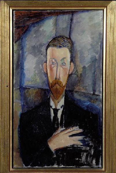 Paul Alexandre devant un vitrage ; Portrait de Paul Alexandre (autre titre)_0