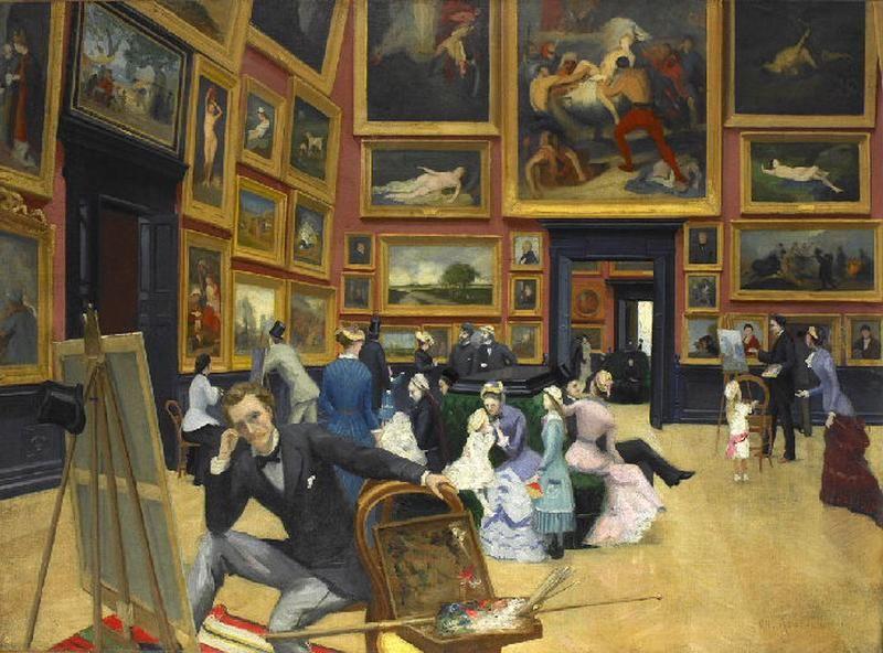 Vue intérieure du musée de Rouen en 1880_0
