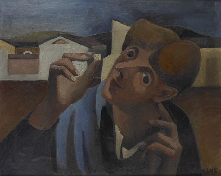 Autoportrait au dé à jouer ; Le fou ('Catalogue raisonné de l'oeuvre de Jean Lasne' (n° 44))_0