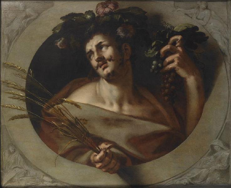 Allégorie du génie (?) ; Bacchus, allégorie de l'automne_0