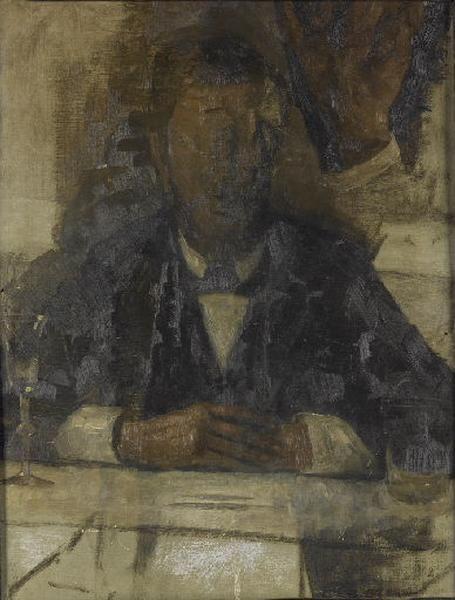 Esquisse pour le portrait du peintre Jens Ferdinand Willamsen (recto) ; Esquisse pour le portrait de Carl Holsne (verso)_0