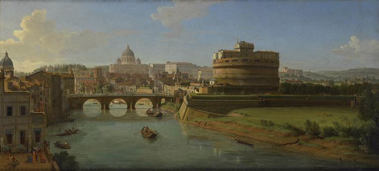 Vue du château Saint-Ange à Rome