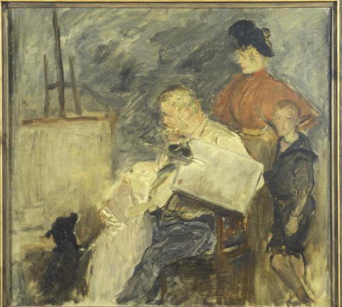 Etude pour le portrait de Frits Thaulow et ses enfants_0