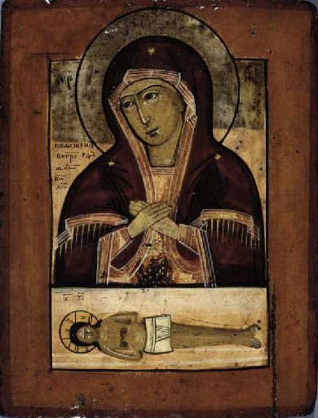 Marie mère de Dieu.la mise dans son sépulcre de Notre Seigneur Jésus Christ
