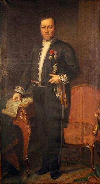 Portrait en pied d'Alexandre Barrabé, maire de Rouen