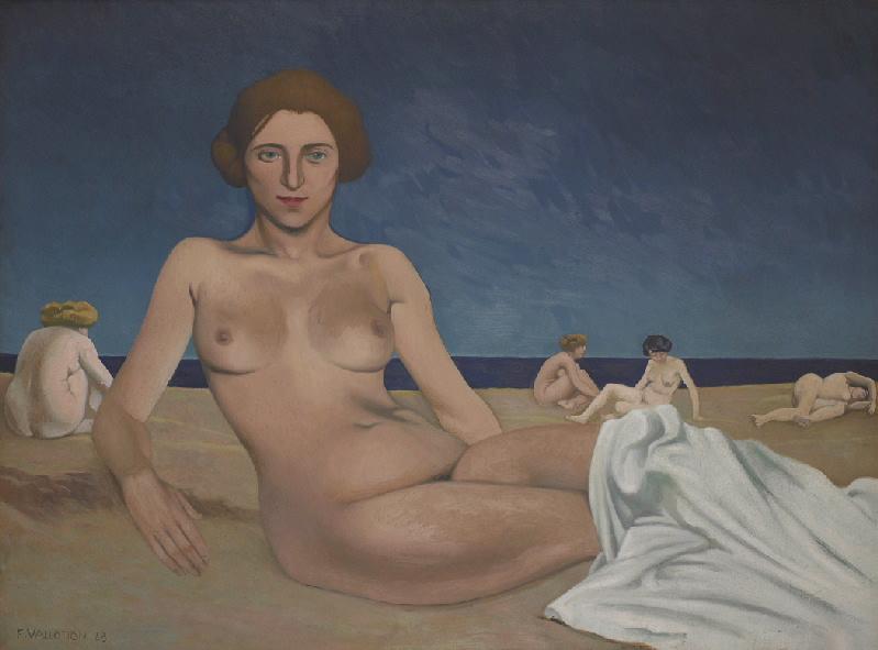 Le bain de soleil sur la plage ; Baigneuses_0