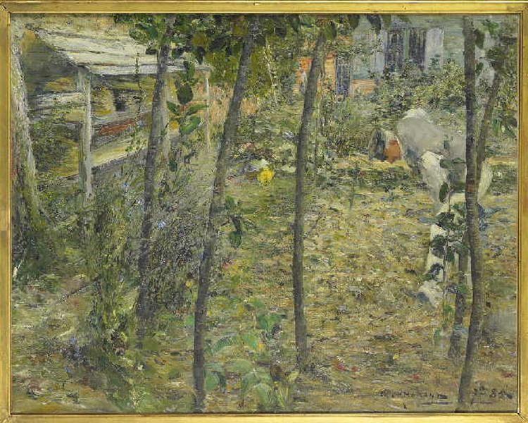 Dans le jardin ; Le jardinier à Criquetot sur Ouville Les choux (titre en 1884)_0