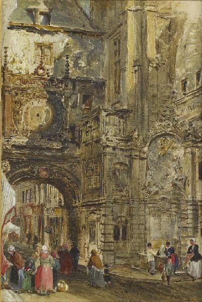 Le Gros Horloge et la fontaine d'Aréthuse, Rouen_0