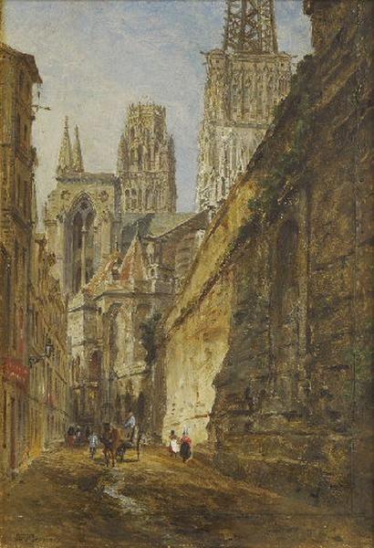 Le chevet de la cathédrale de Rouen vue de la rue des Bonnetiers