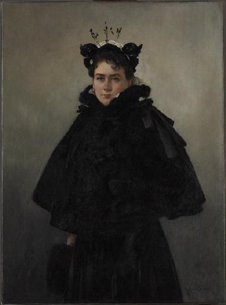 Portrait de dame à l'aigrette_0