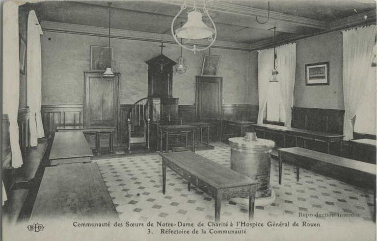 Hospice Général de Rouen, réfectoire de la communauté_0