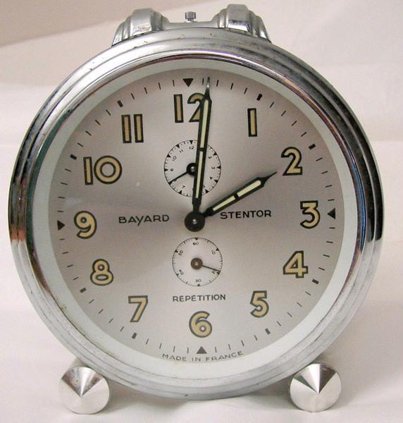 BAYARD, SOCIETE DES ANCIENS ETABLISSEMENTS DUVERDREY & BLOQUEL (usine) : réveil (à mouvement mécanique, à répétition)
