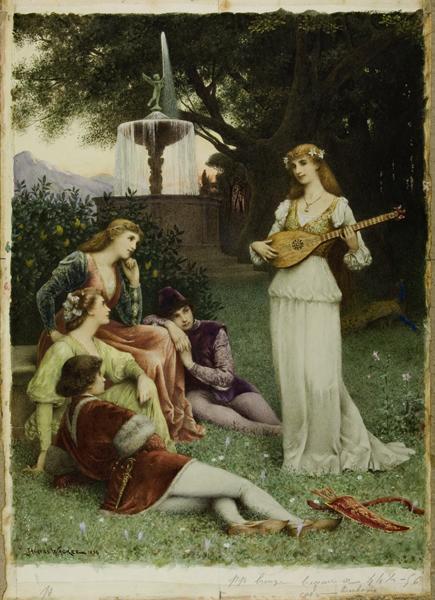 La mandoline ; Muses (Titre attribué)_0