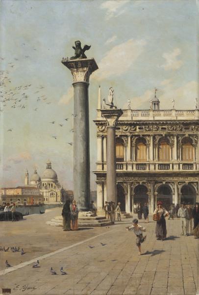 Venise ; la Piazetta_0