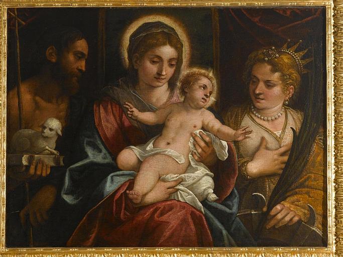 Le mariage mystique de sainte Catherine avec saint Jean-Baptiste_0