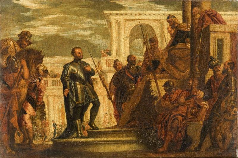Saint Sébastien devant Dioclétien_0
