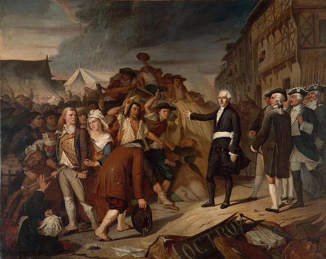 Le Maire Kervégan arrêtant une émeute de paysans à l'octroi de Nantes en 1790_0